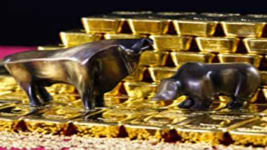 Gold Bull and Bear