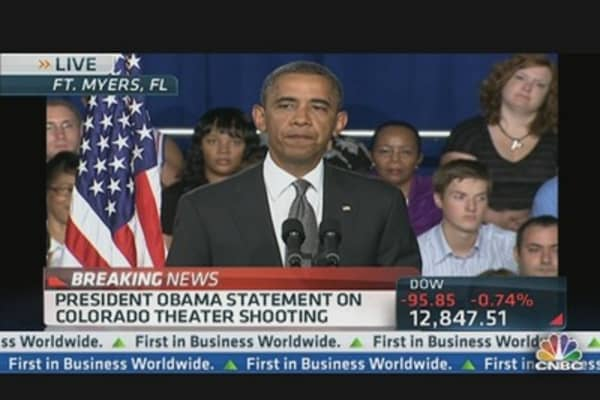 President Obama Addresses Deadly Theater Shooting