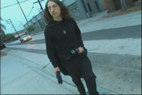 Hero Man Prowls Hollywood Mean Streets, Fights Crime
