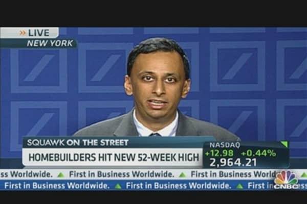 Homebuilders Hit New 52-Week High