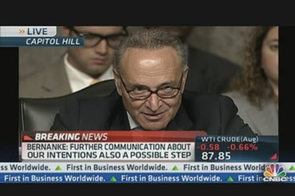 Sen. Schumer to Bernanke: 'Get To Work'