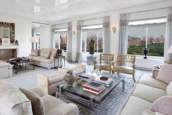 33rd floor — Condo $50,000,000 8 rooms, 2 bedrooms, 3.5 baths; approx. 4,536 sq. ft.This residence atop the Ritz-Carlton hotel — steps away from The Plaza — is one of only 12 condos for sale at this address. It features views of Central Park and the city skyline, and the work of interior design by Michael Smith, who has been handling decorator duties at the White House since 2008. Also inside this unit — which spans the entire 33rd floor — is a library inspired by Coco Chanel's famous Paris apa