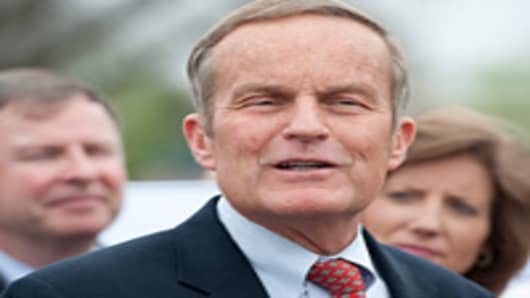Rep. Todd Akin, R-Mo., speaks during a news conference on the new Health and Human Services Department abortion rule on Wednesday, March 21, 2012.