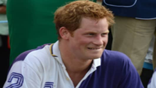 Prince Harry attends the Jerudong Trophy at Cirencester Park Polo Club on August 5, 2012 in Cirencester, England.