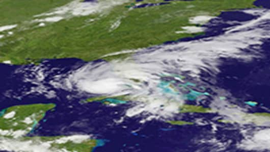 Hurricane Isaac bears down on Florida.