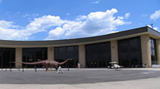 The façade of the Creation Museum located near Cincinnati, Ohio.