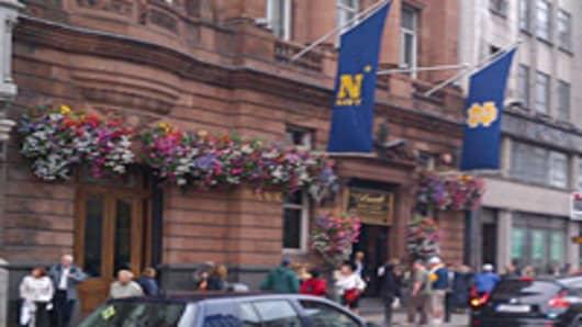 Notre Dame Navy flags Dublin