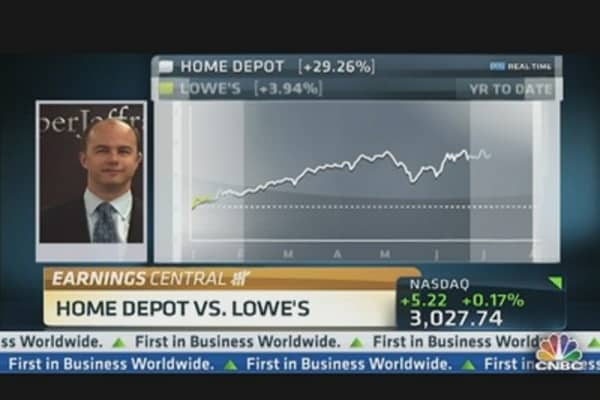 Home Depot EPS Beats, But Sales Miss