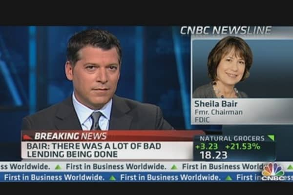 Bair is 'Flabbergasted' by Weill's Big Banks Comments