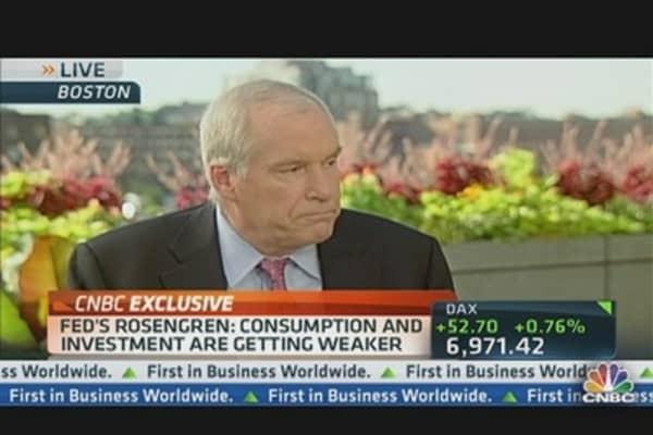 Fed's Rosengren: 'Treading Water' on Jobs & the Economy
