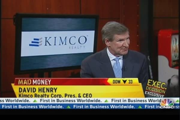 Kimco CEO: Fixed Amount of Quality Retail Space Now