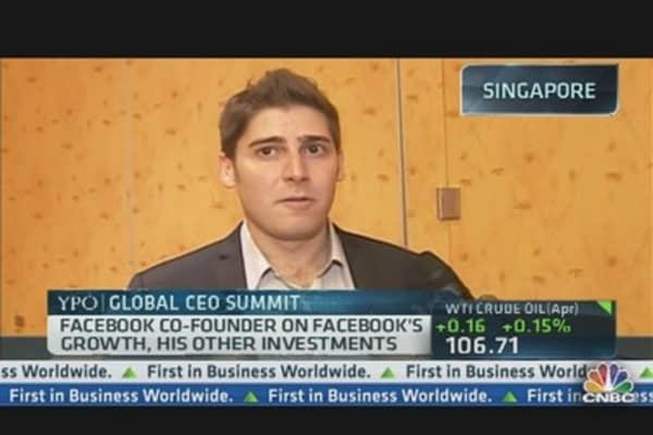 Facebook Co-Founder Saverin on Growth