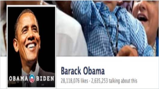 President Barack Obama's Facebook page.
