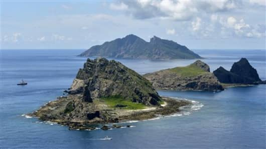 These islands in the East China Sea, called Senkaku in Japanese and Diaoyu in Chinese,  are claimed by both countries and a source of a simmering tensions.