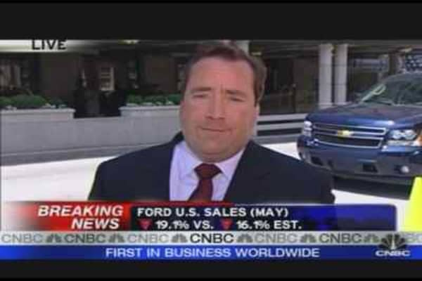 Ford U.S. Sales Down