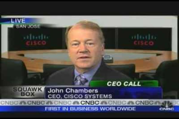 Cisco CEO's Game Plan to Ride Out the Storm