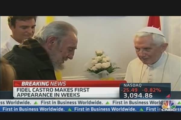 The Pope Meets With Fidel Castro