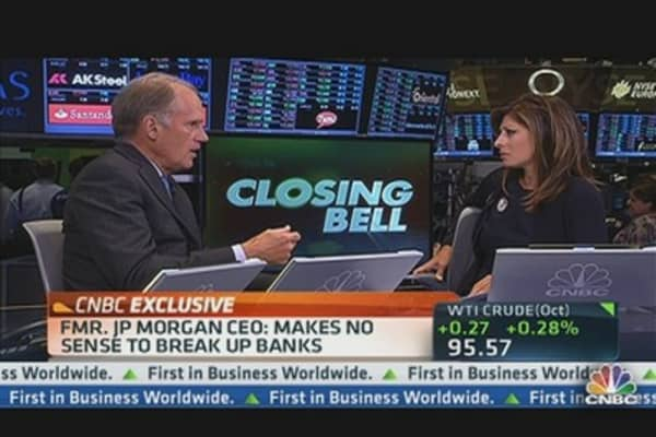 Former JPMorgan CEO: Makes No Sense to Break Up Banks