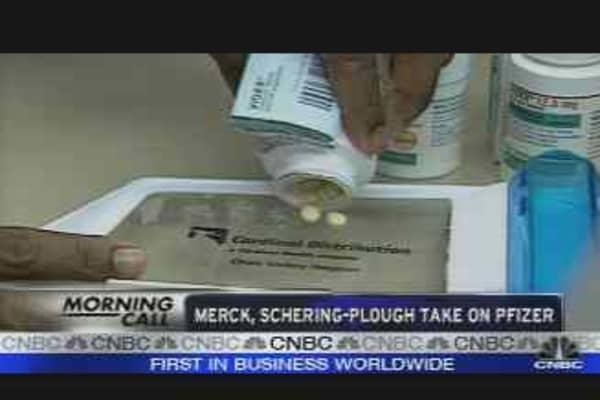 Merck, Schering-Plough Take on Pfizer