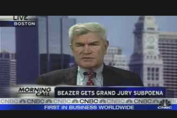 Beazer Gets Grand Jury Subpoena