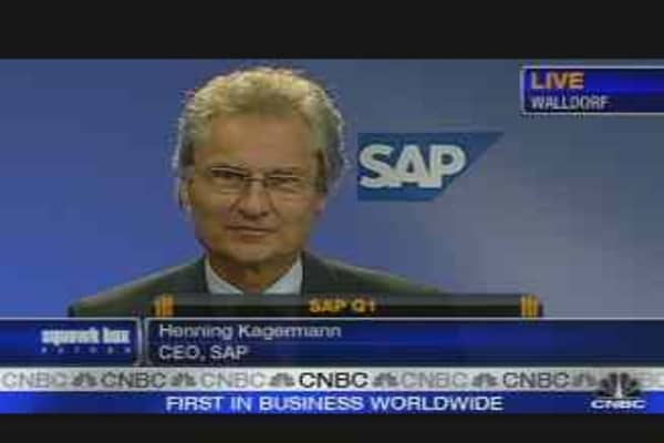 SAP CEO on First Quarter