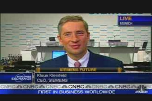 CNBC Exclusive: Siemens CEO