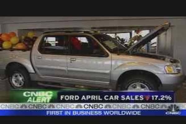 Ford April Auto Sales