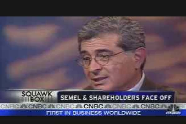 Semel & Shareholders Face Off