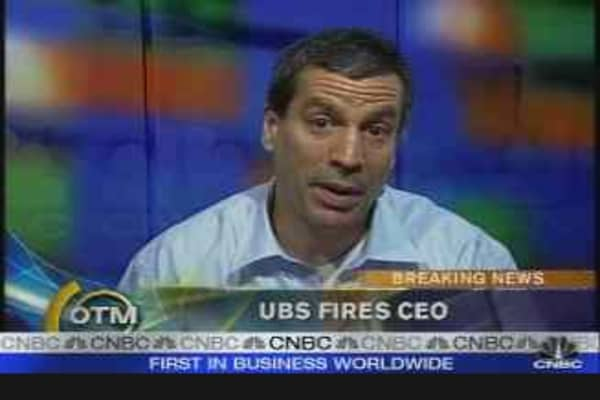 UBS Fires CEO