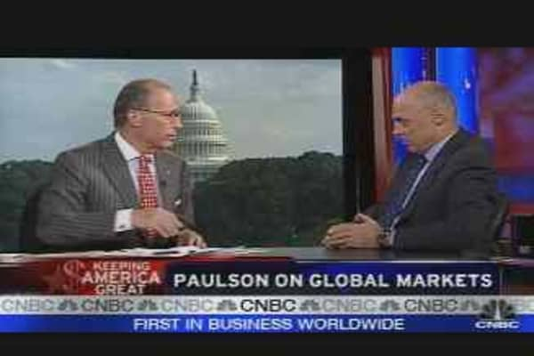 Paulson on Global Markets