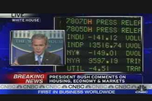 Bush on Housing Crisis