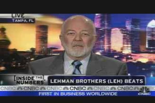 Lehman Beats the Street