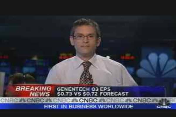 Genentech Earnings Reaction