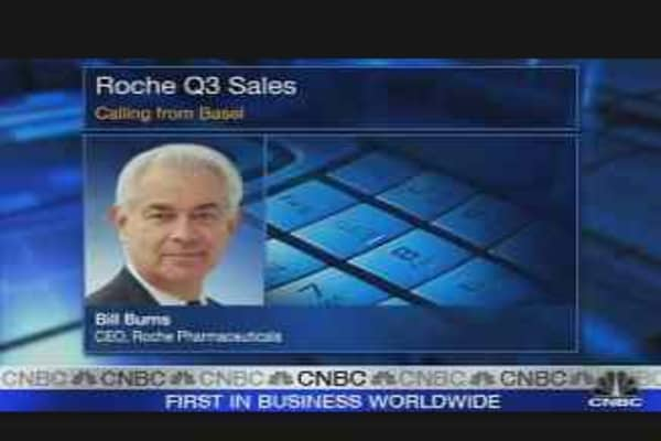 Roche Trades Lower on Poor Tamiflu Sales