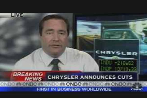 Chrysler Announces Cuts