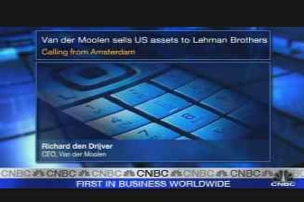 Van der Moolen Drops US Assets