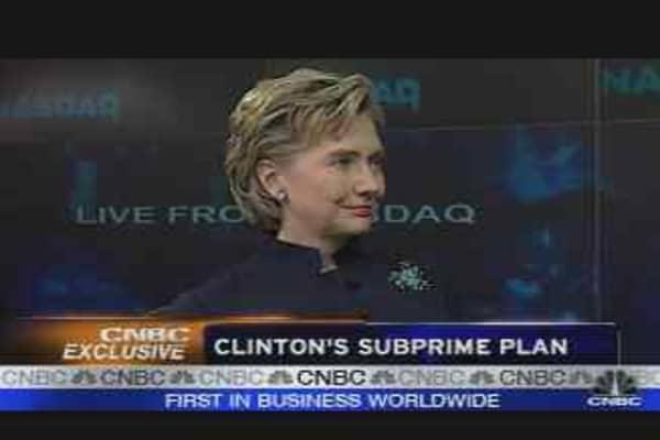 Clinton's Subprime Plan, Pt. 1