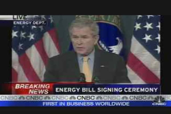 President Bush Signs Energy Bill