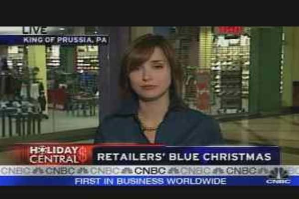 Retailers' Blue Christmas