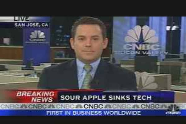 Sour Apple Sinks Tech