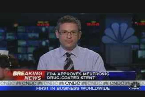 FDA Approves Medtronic Stent