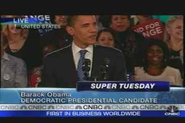 Super Tuesday: Obama Addresses IL