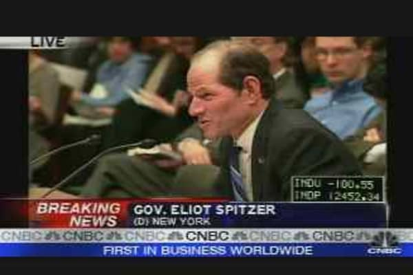 Elliot Spitzer: Bond Insurer Hearing