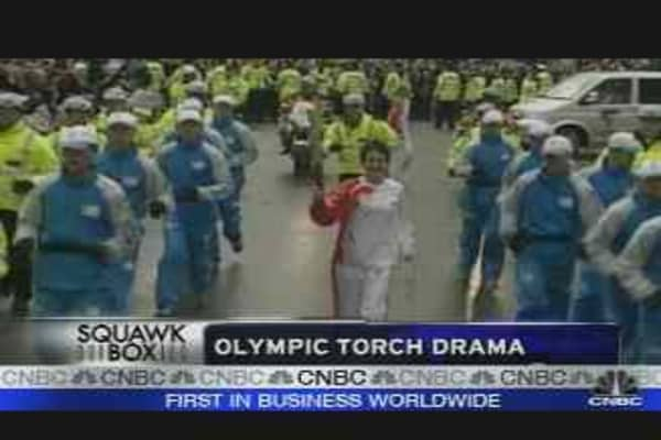 Olympic Torch Drama