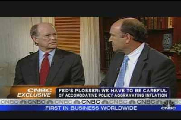 Fed's Plosser on the Economy