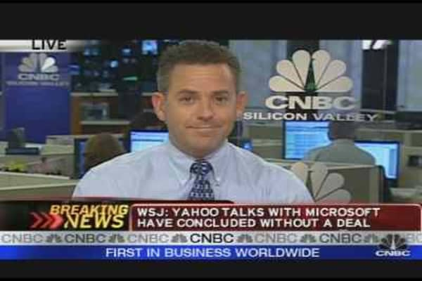 Yahoo/Microsoft Talks End