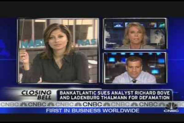 Small Florida Bank Sues Dick Bove
