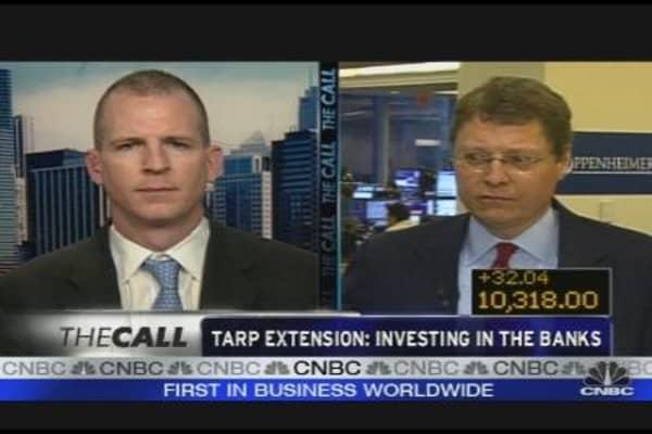 TARP Extension & Financials