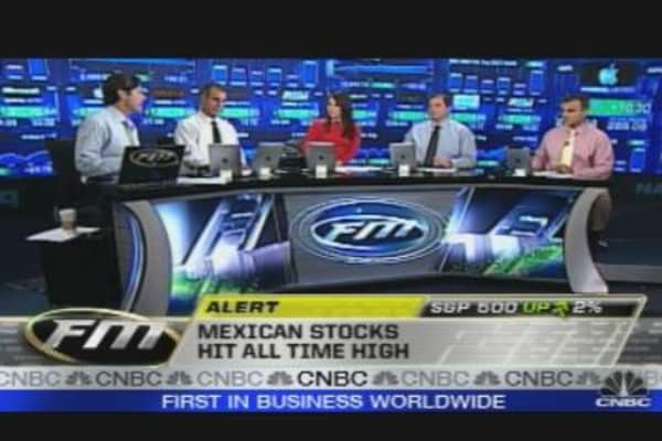 Mexican Stocks All Time High