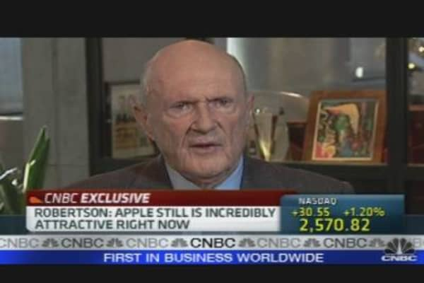 Robertson Rides Apple Bull